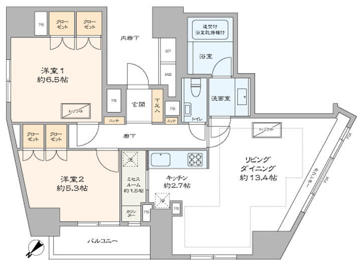 乃木坂 赤坂エリアを一望できる窓に囲まれた部屋