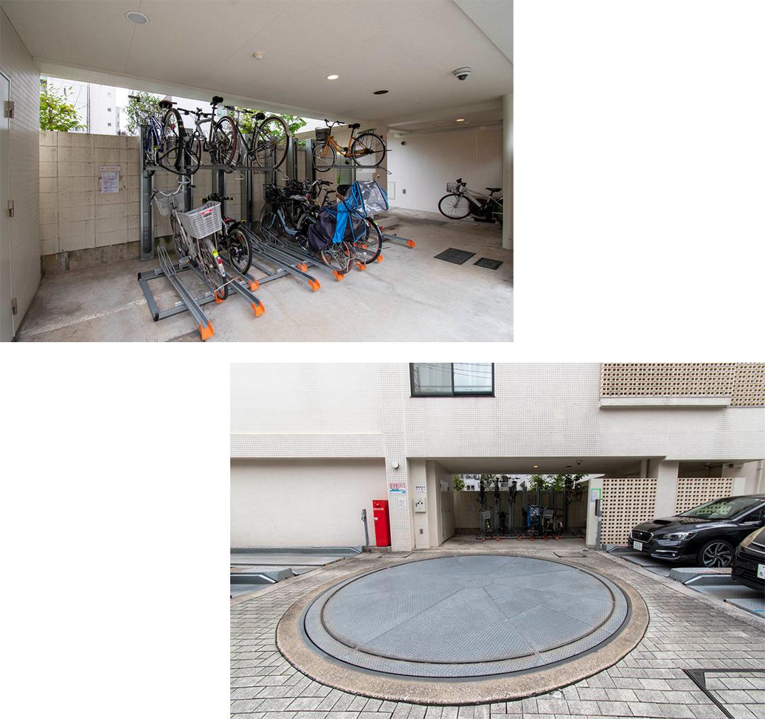 駐輪場,駐車場
