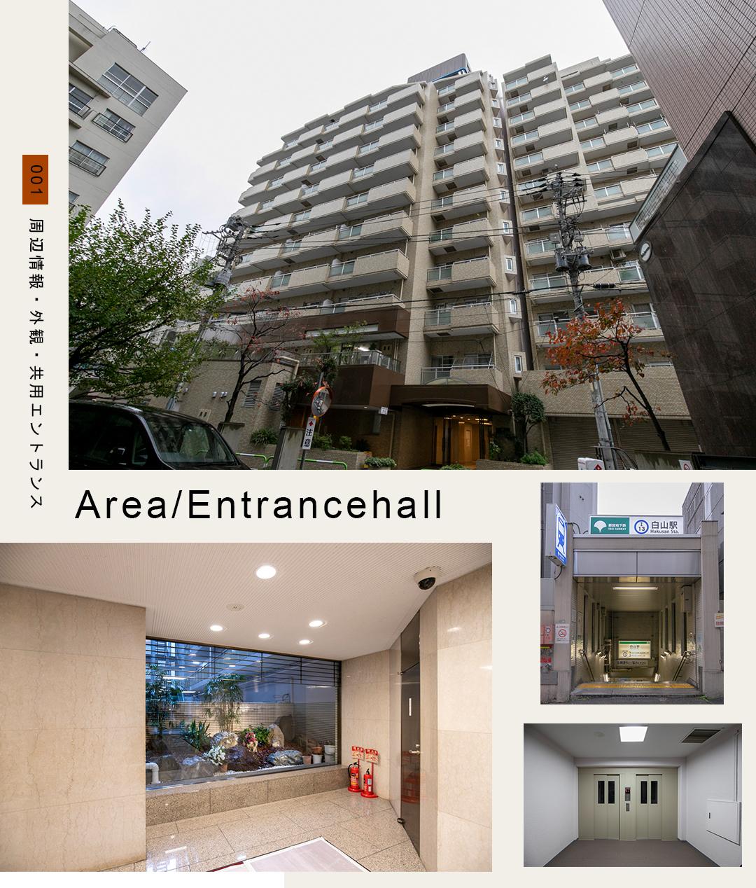 001周辺情報,外観,共用エントランス,Area,Entrancehall