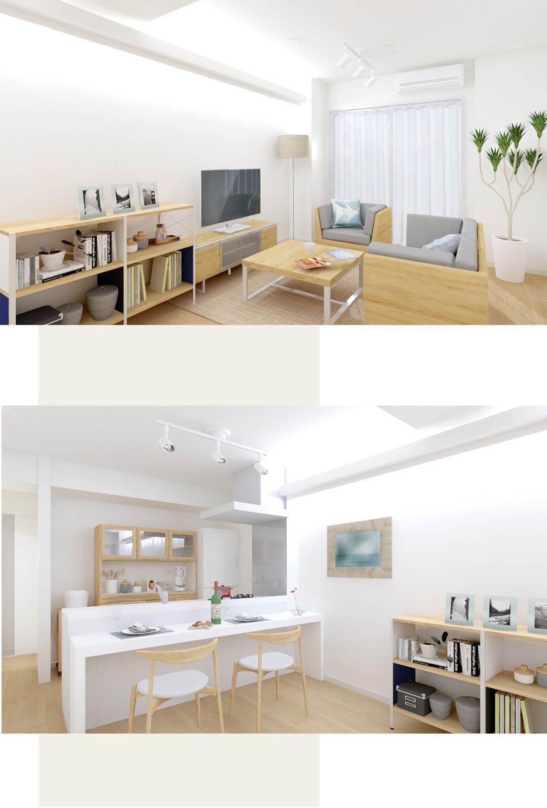 五反田ロイヤルハイツの内装事例