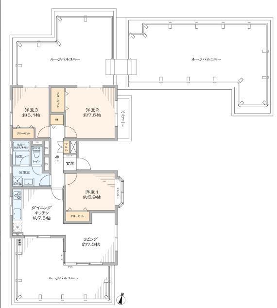 光建ハイムブリリアンス太子堂 ~roof Balconyのある家~