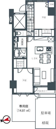 ラ・メルシー大森EST  アイランドキッチンと専用庭でしたいこと