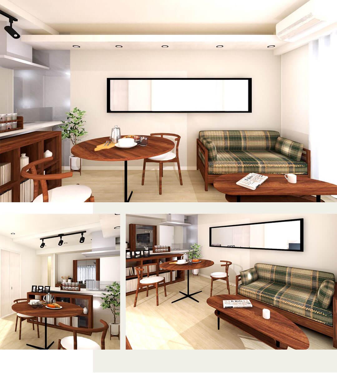 千石三丁目シティハウスのリビングダイニングキッチンの内装事例