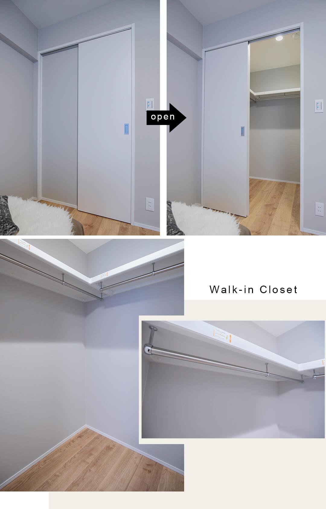 飯田橋ハイタウンの寝室のウォークインクローゼット