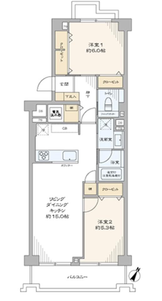 上野毛リッツハウスA棟 自然に囲まれてのんびり暮らす
