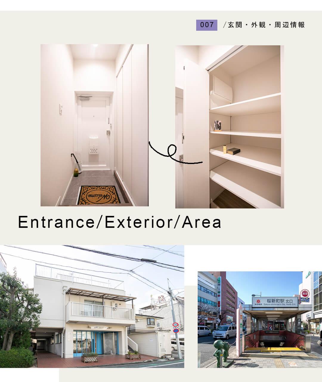 007玄関,外観,周辺情報,Entrance,Exterior,Area