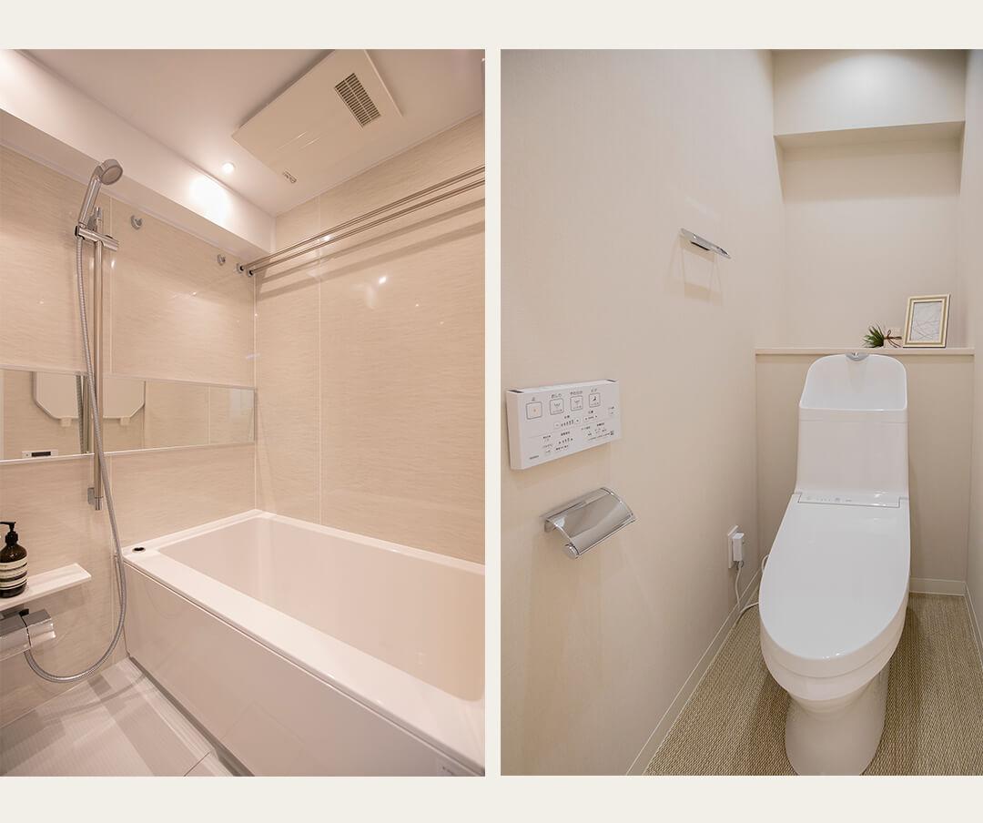 新宿セントビラ永谷の浴室とトイレ