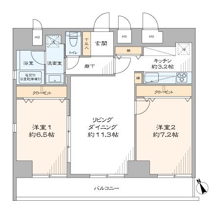 八丁堀 5駅5路線が使える部屋