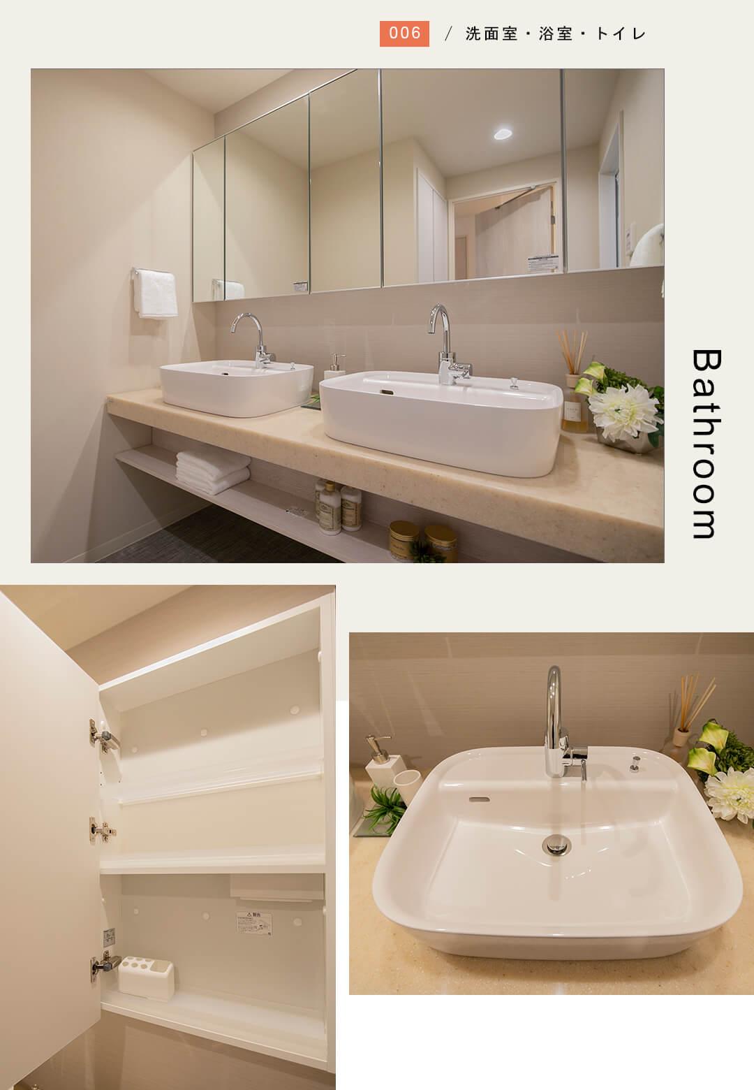 東京ツインパークレフトウイングの洗面室