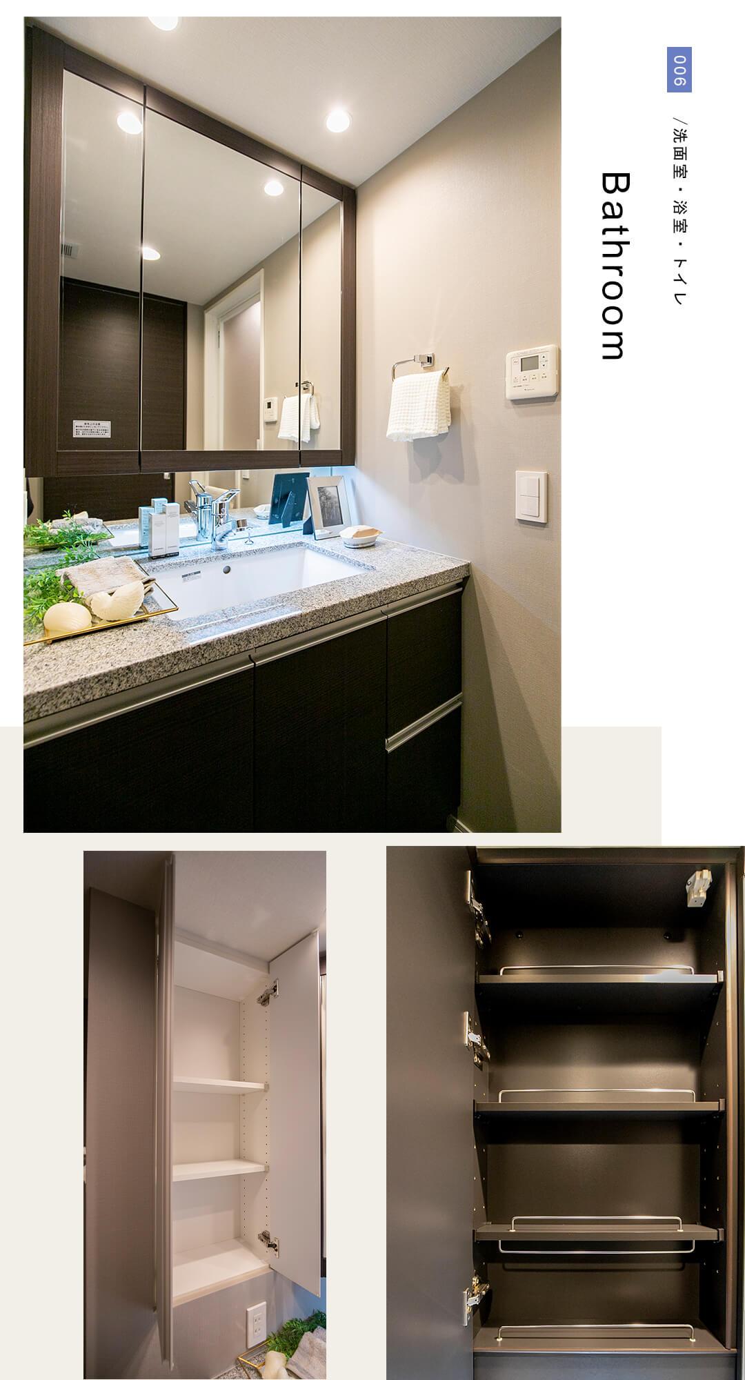 ザ・パークハウスアーバンス御成門の洗面室