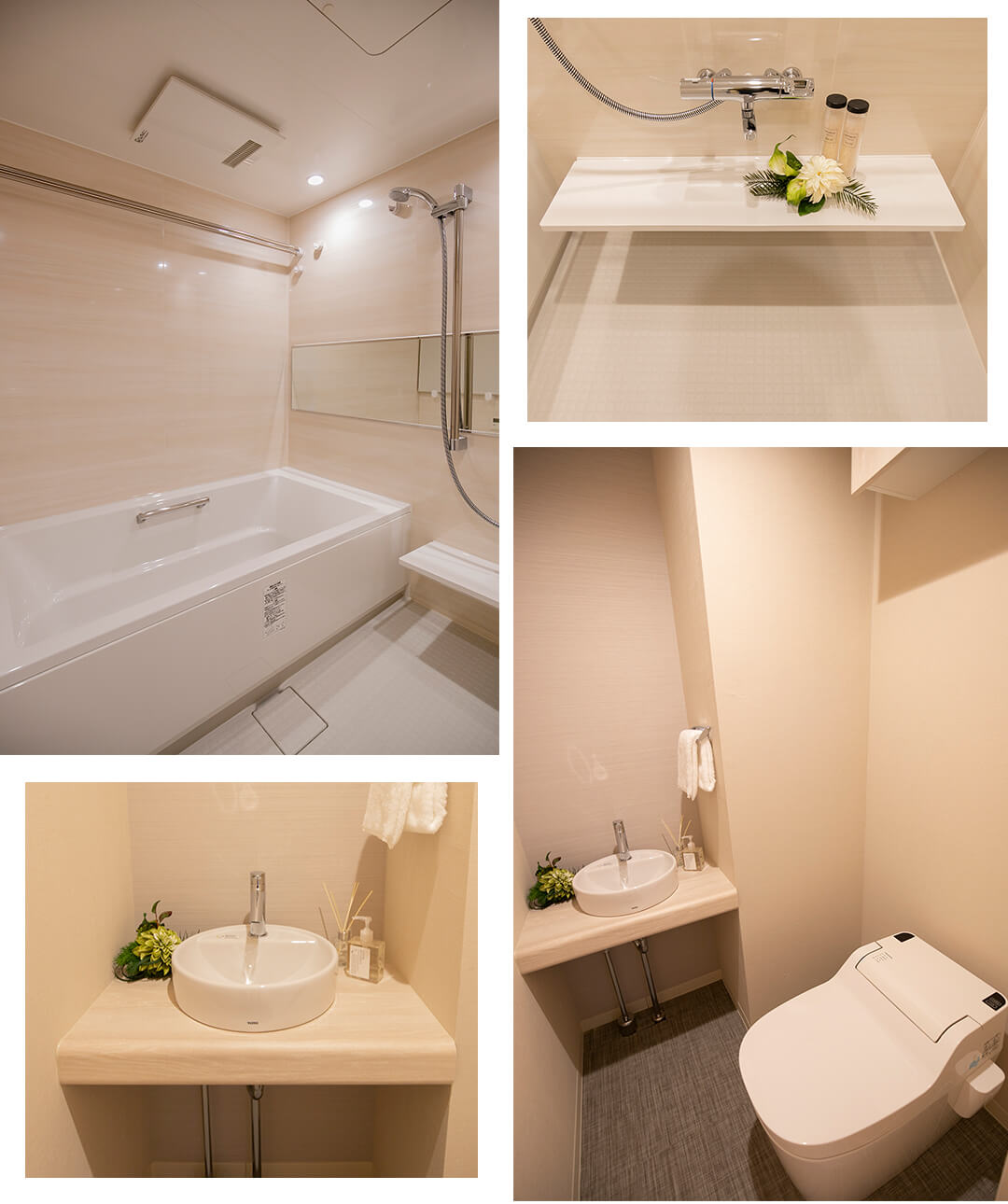 東京ツインパークレフトウイングの浴室とトイレ