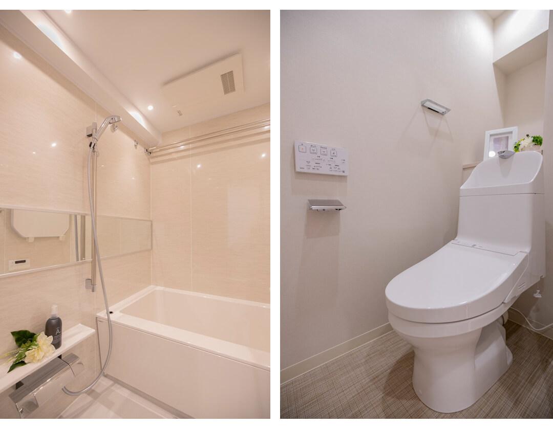 パイロットハウス北新宿の浴室とトイレ