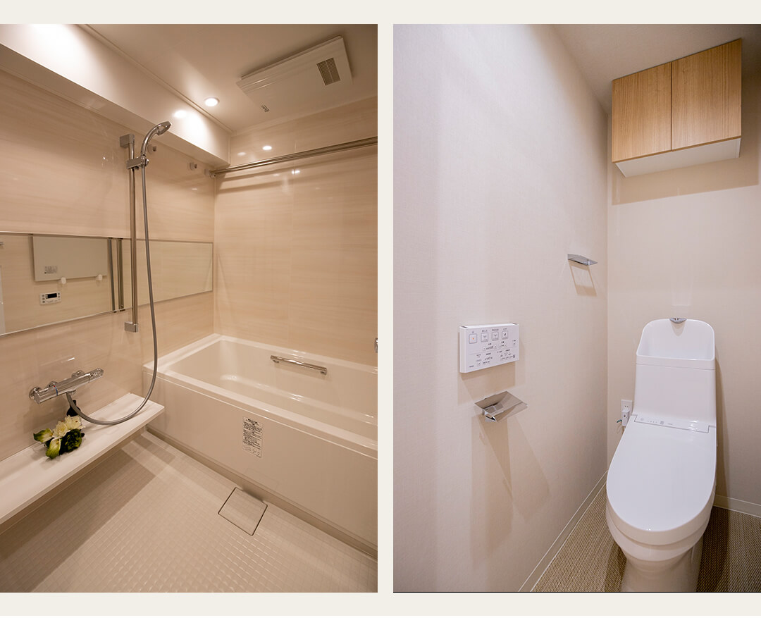 クラース浜田山の浴室とトイレ