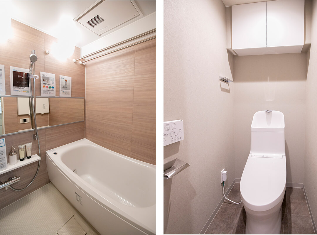 ヴェラハイツ第2亀戸の浴室とトイレ