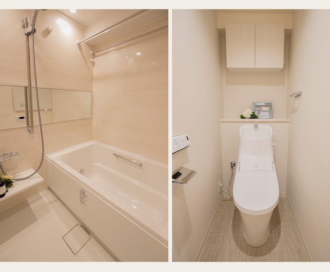シャトー赤坂台の浴室とトイレ
