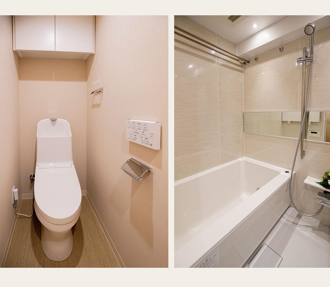 マートルコート東中野の浴室とトイレ