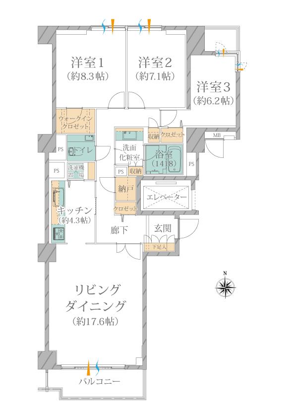 広尾ガーデンヒルズ・ノースヒルO棟
