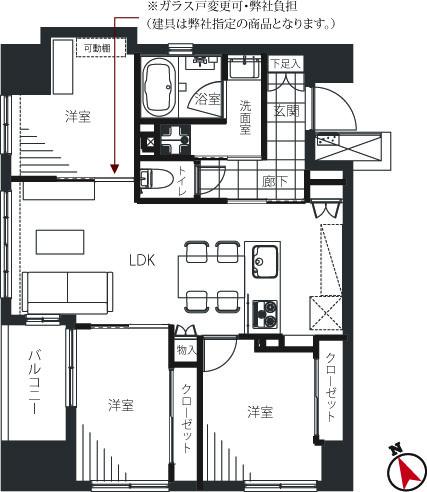 駒込 駅近で収納豊富な部屋