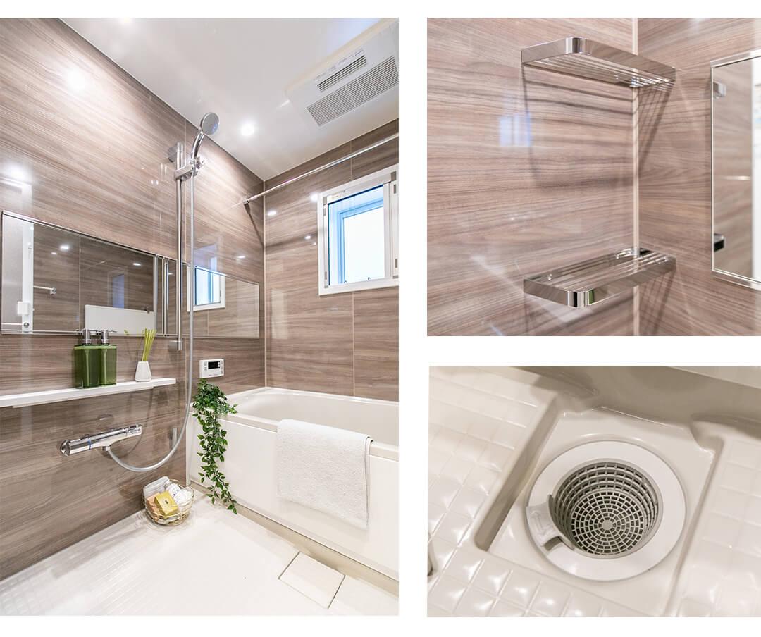 ヴィルヌーブ千駄木の浴室