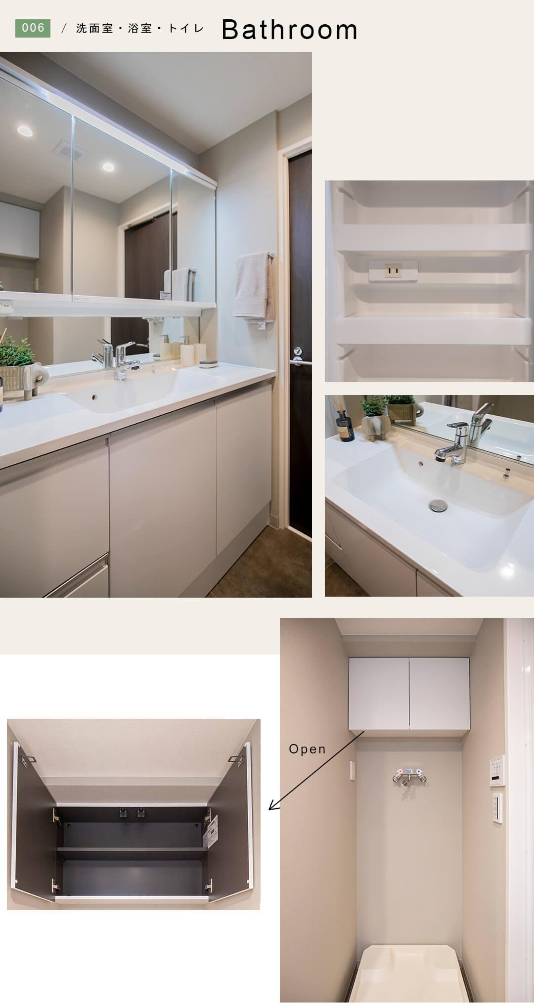 グランドメゾン東池袋の洗面室