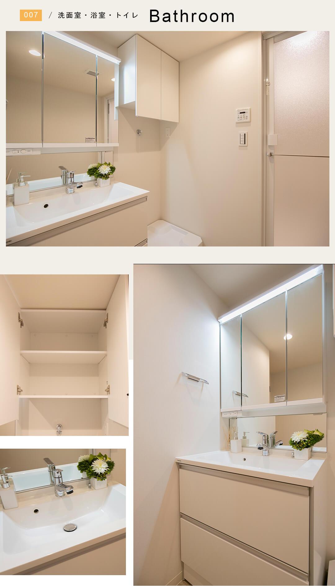 武蔵野サマリヤマンションの洗面室