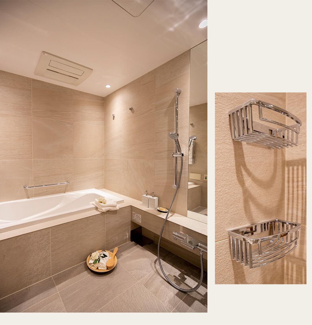 青山パークタワーの浴室