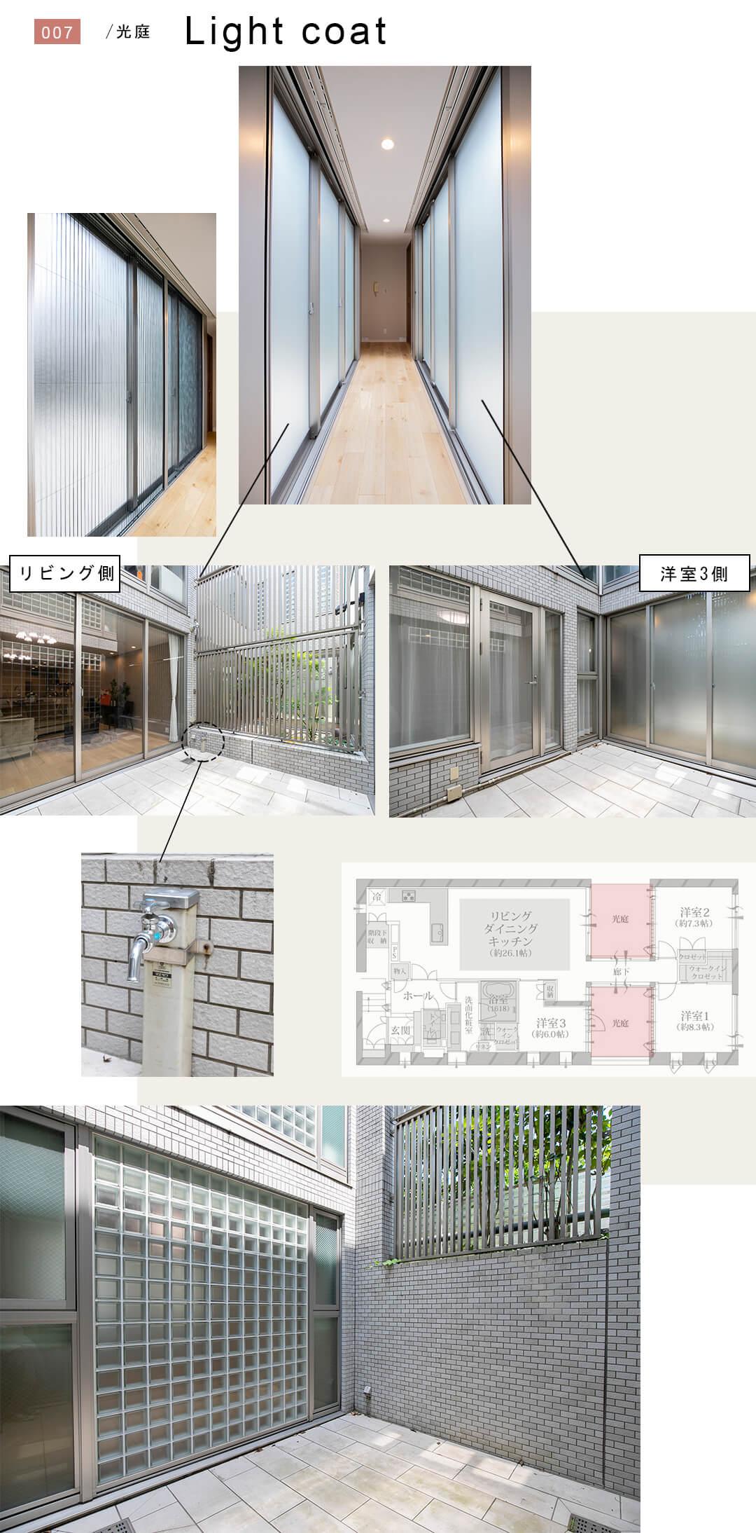 松濤コートハウスの光庭