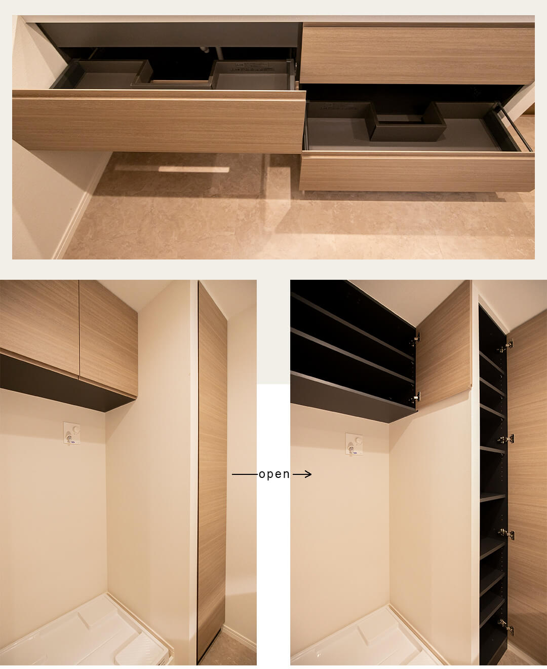 松濤コートハウスの洗面室