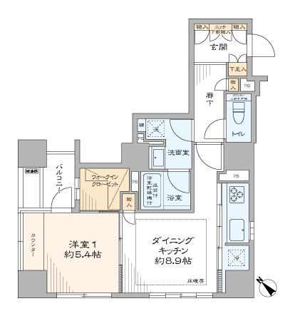 トーキョー・オーディアム日本橋浜町 駅近で使いやすい部屋