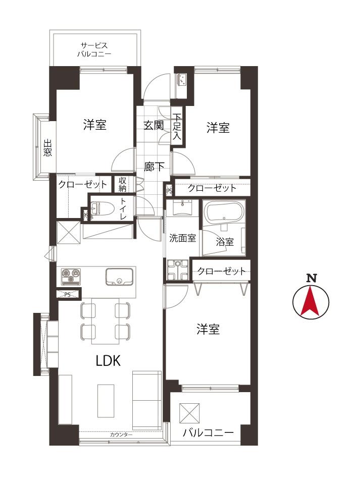 菊川 スカイツリーが見える部屋
