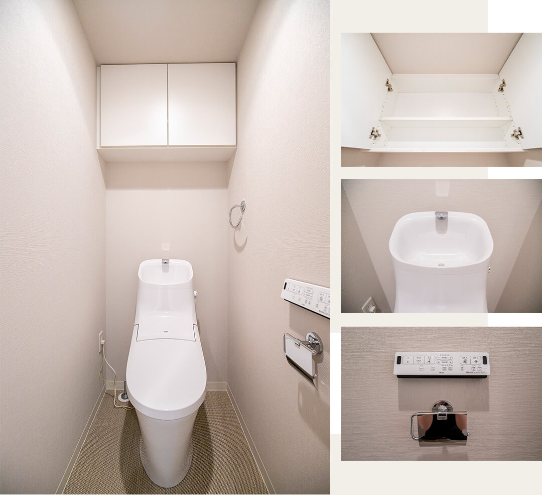 D'グラフォート清澄白河のトイレ
