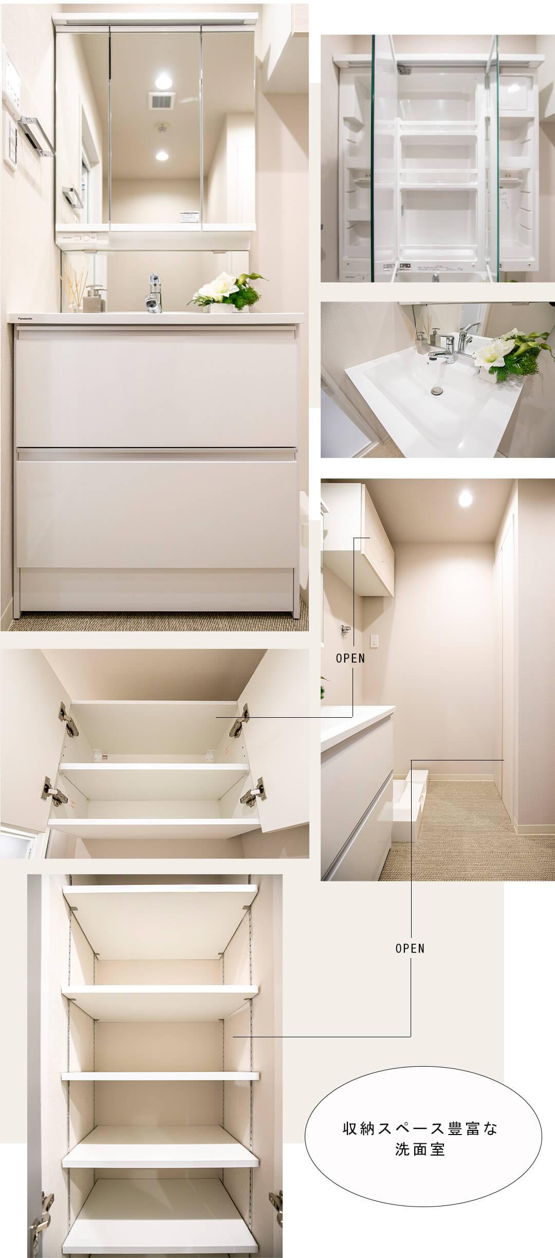 エフィーナ麻布十番の洗面室