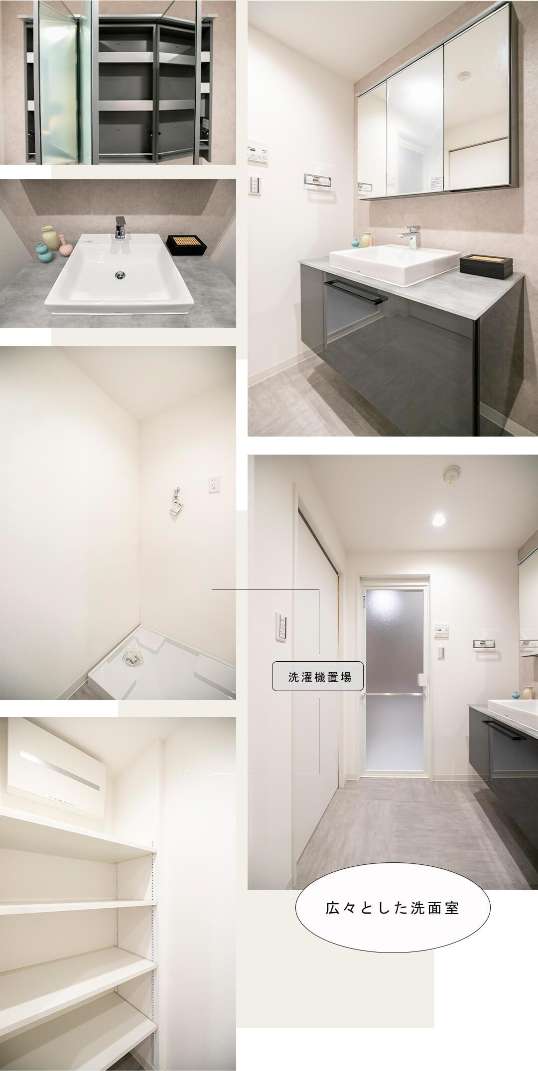 カスタリア桜木町の洗面室