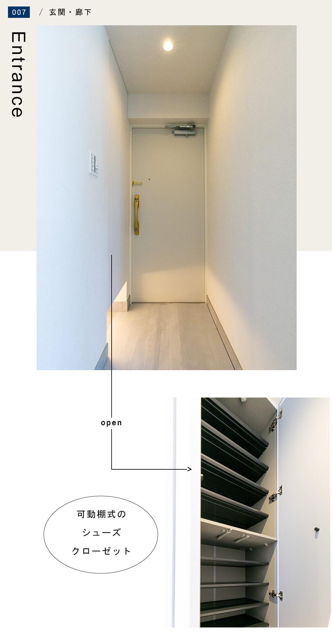 グラーサ西麻布の玄関
