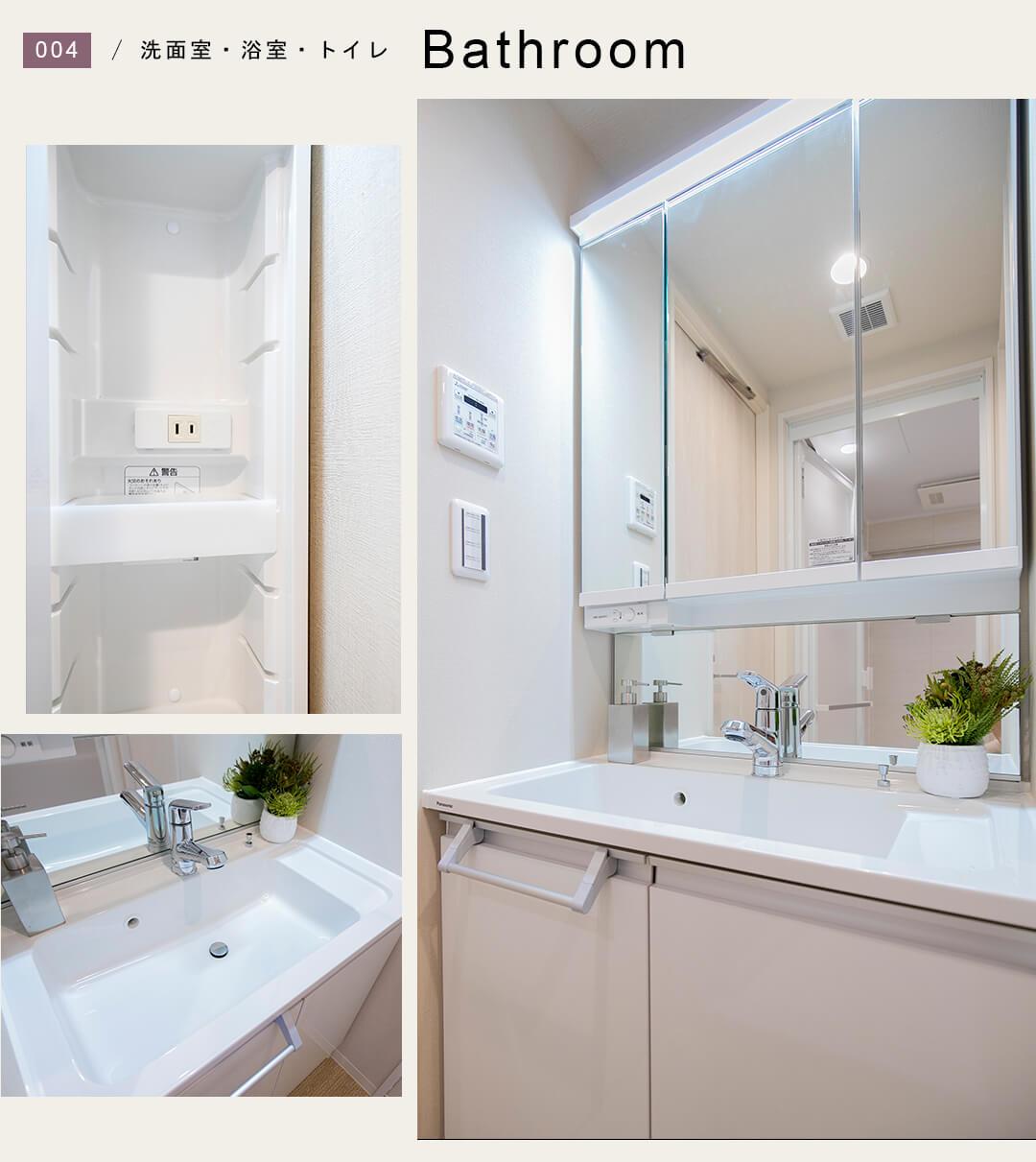 アビテ市ヶ谷仲之町の洗面室