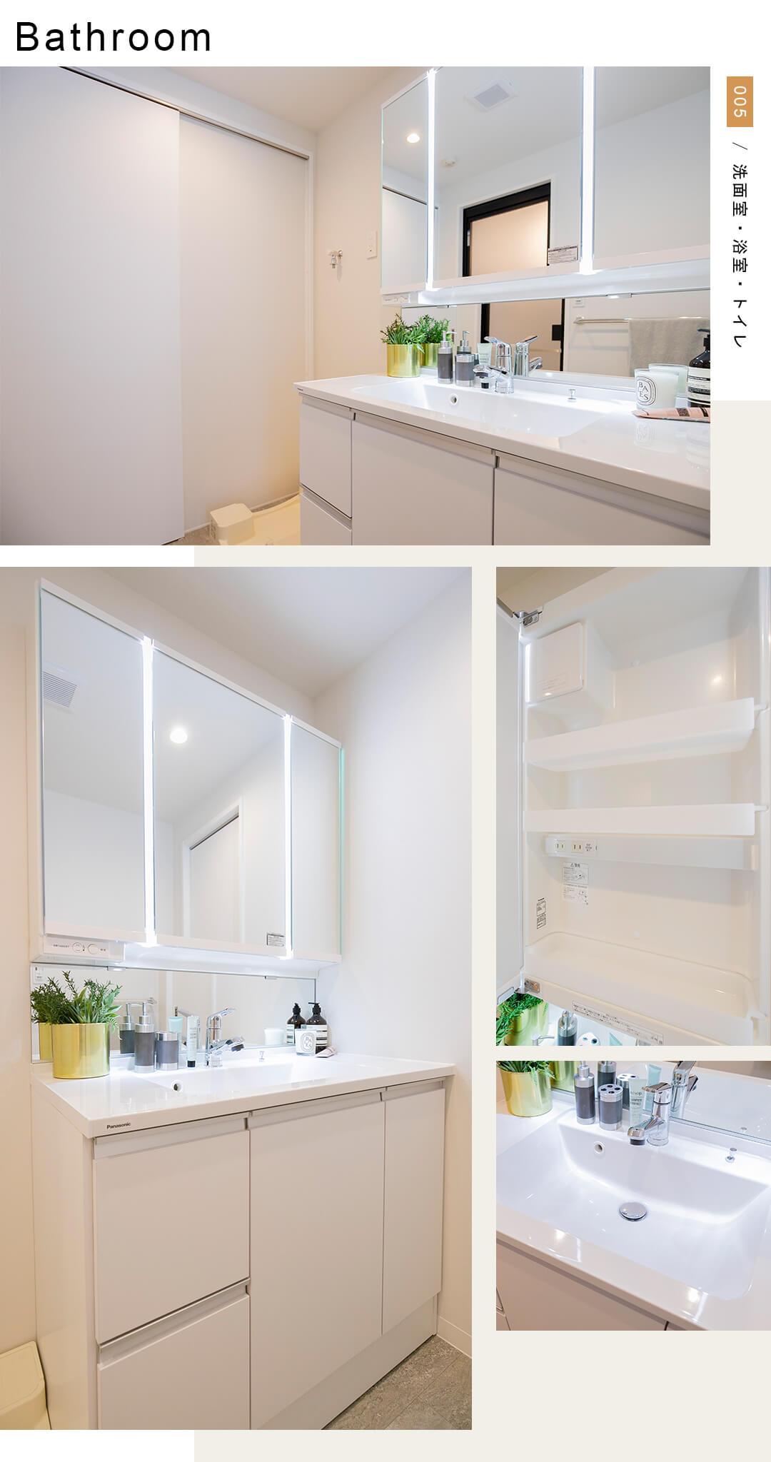 ベルジュ経堂の洗面室