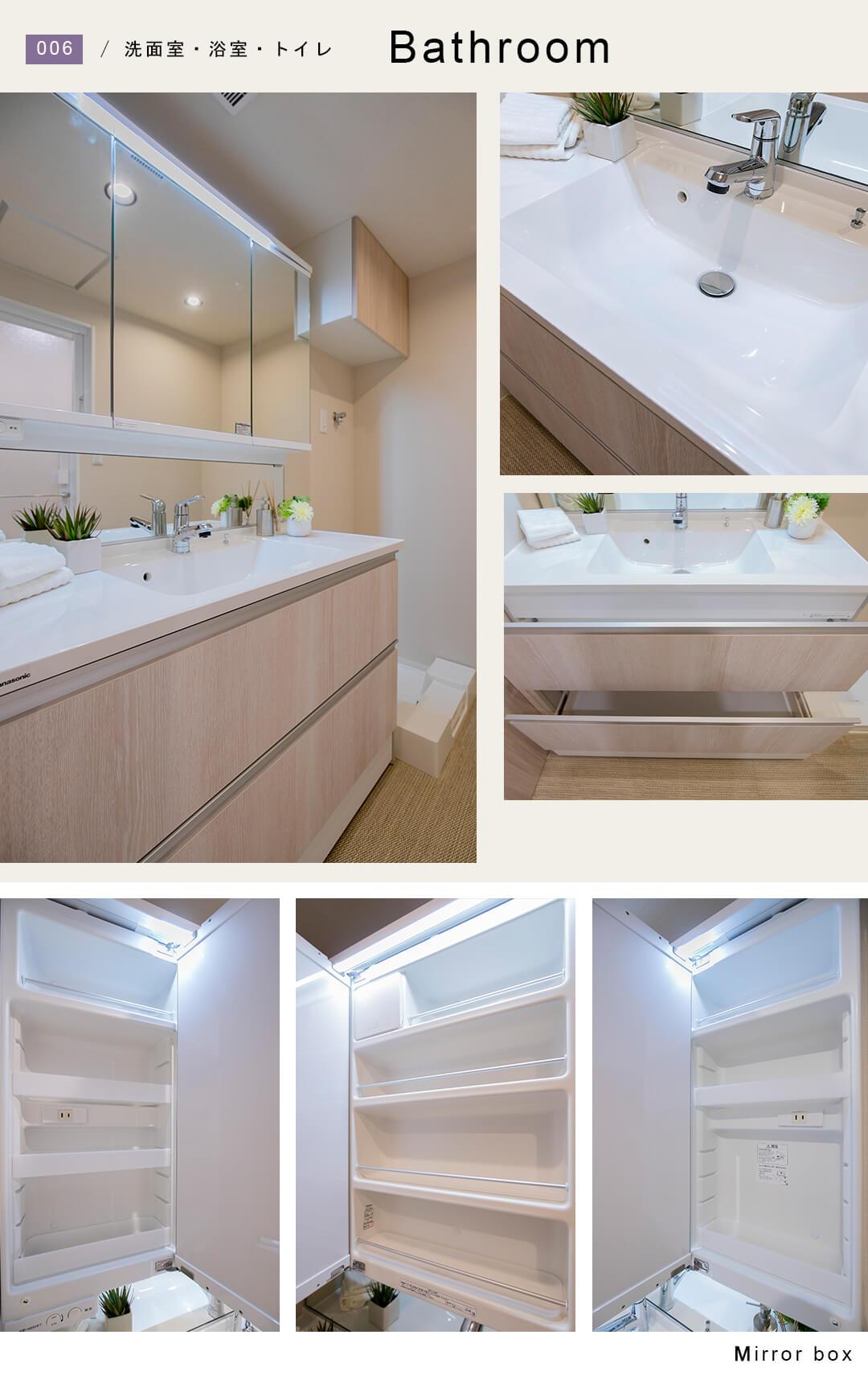 ダイナシティ南阿佐ヶ谷の洗面室