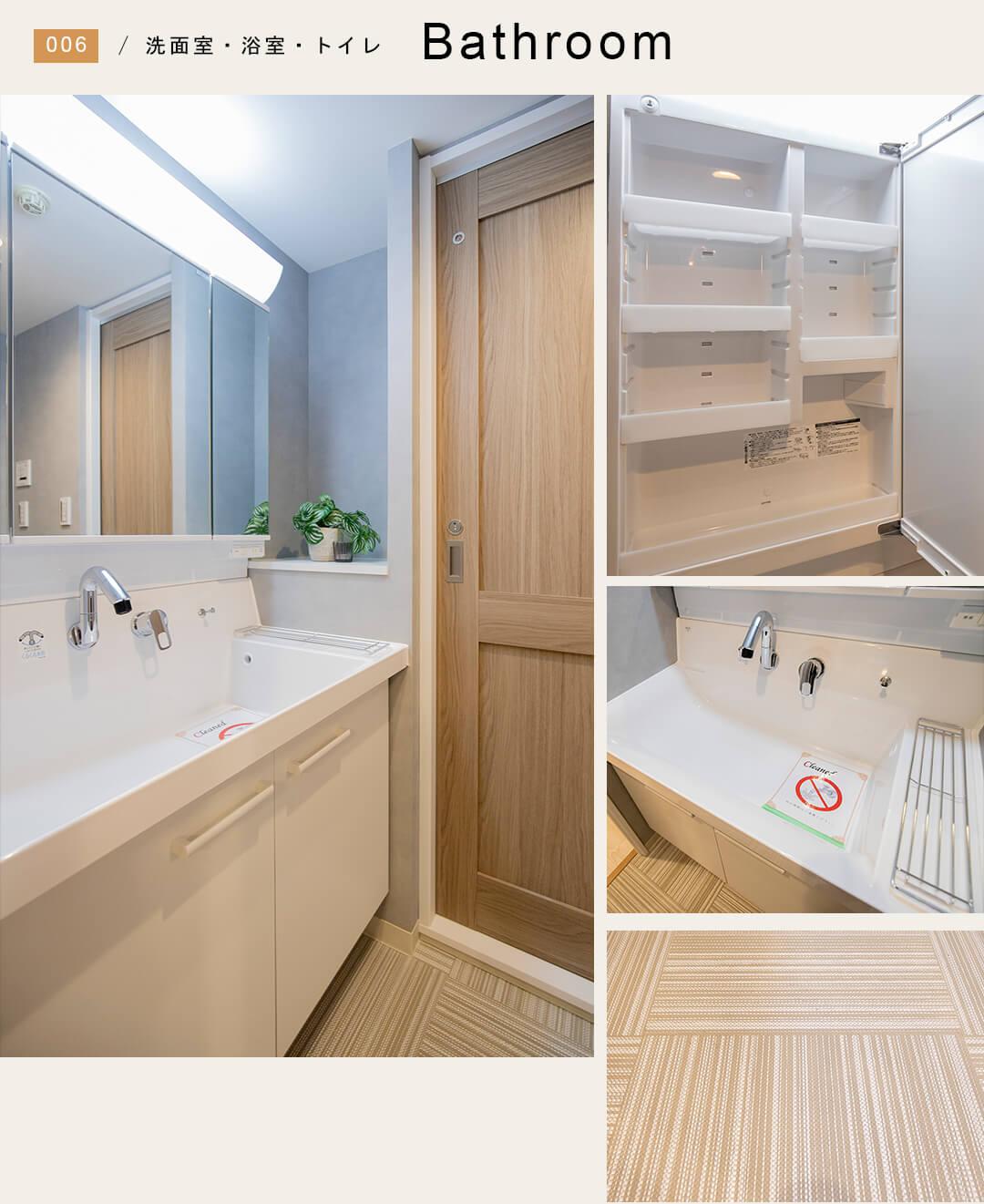 イースタンホームズ若林の洗面室