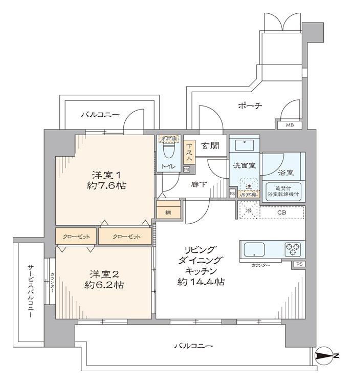 吉野町 駅近で買い物に便利な家 間取り図