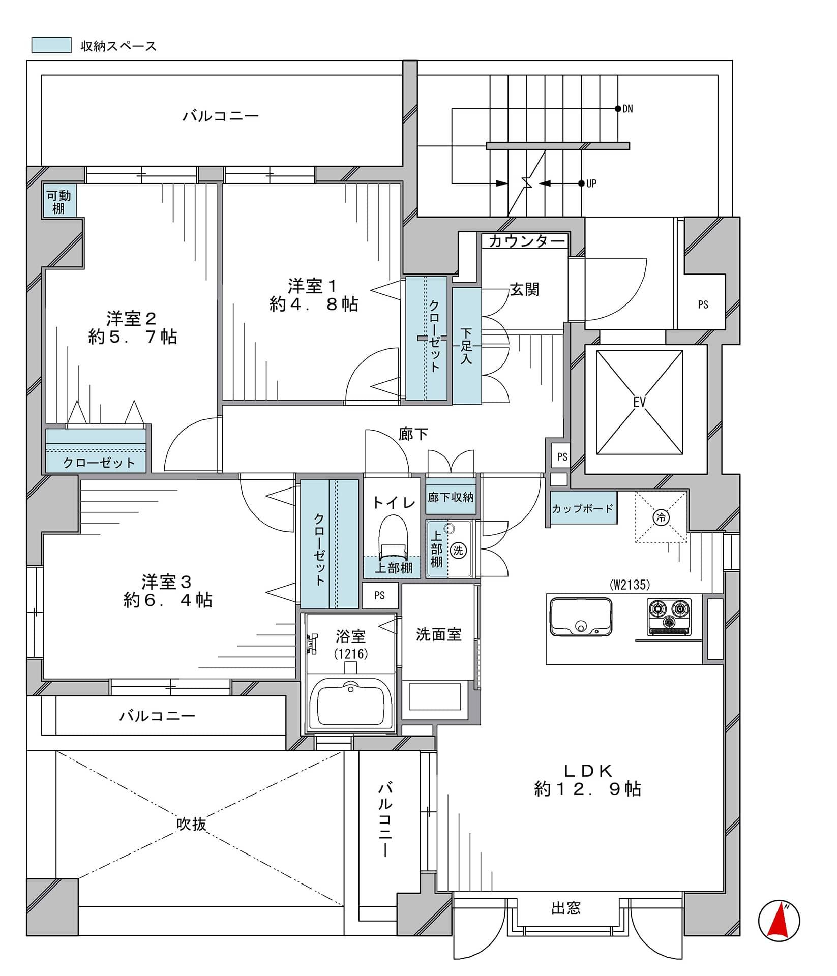 錦糸町 ワンフロアに1住戸のプライベート空間