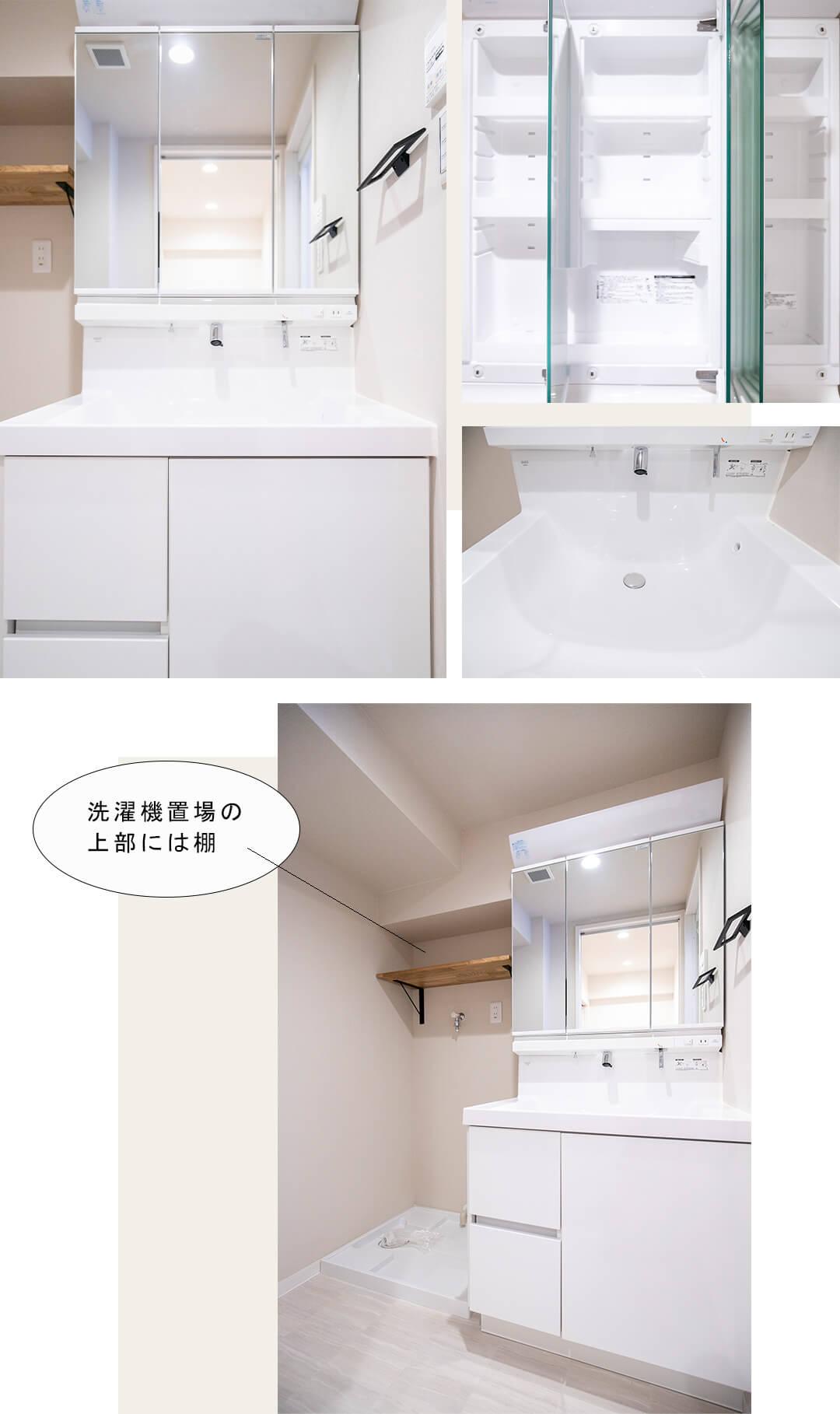 ラティス成城の洗面室