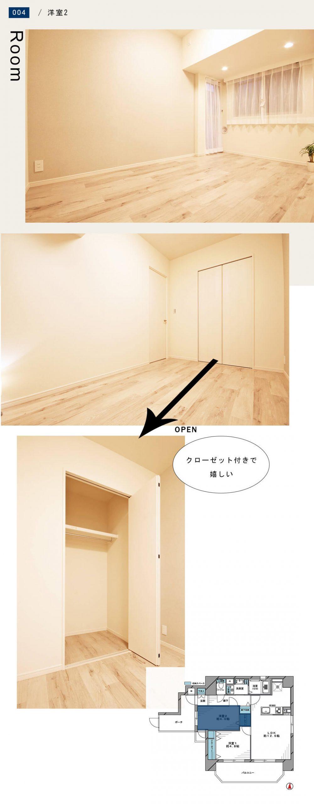 菱和パレス錦糸町 203号室の洋室2