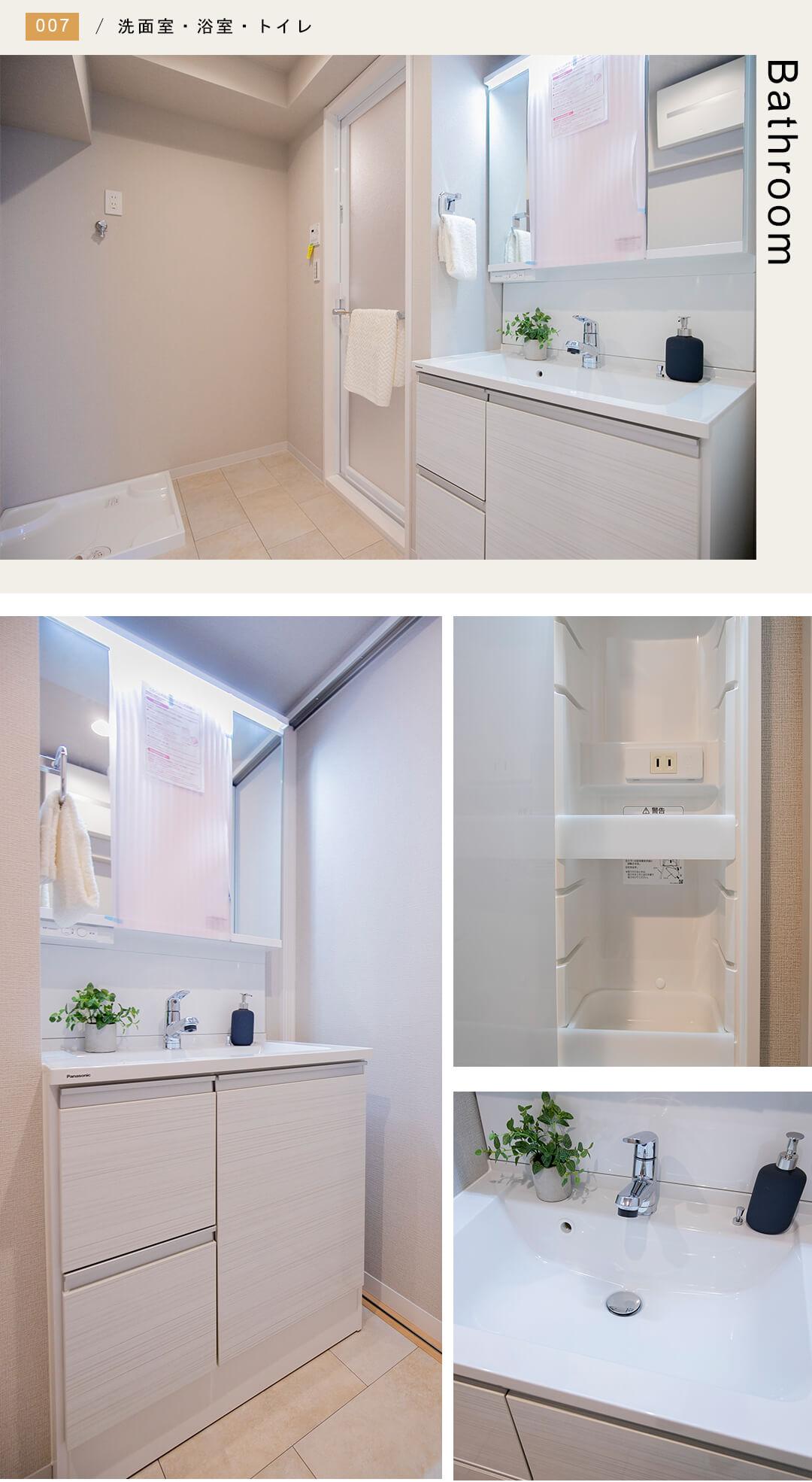 高田馬場シティハイツの洗面室