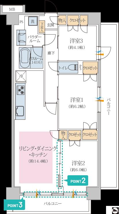 リブネスモア戸田公園206