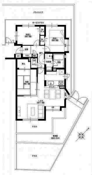エクセル菊名ヒルステア参番館 憧れの専用庭付きで戸建て感覚に暮らす