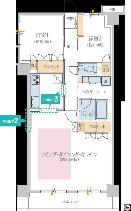 リブネスモア戸田公園705