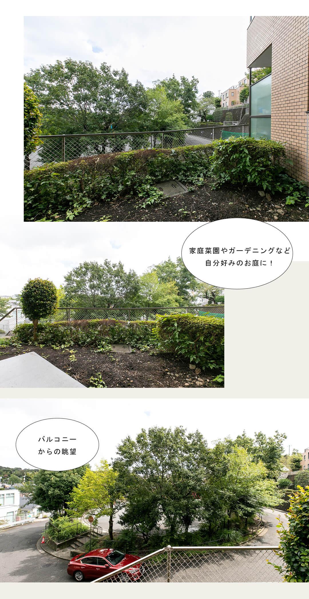 バームハイツ菊名参番館壱のバルコニー・専用庭