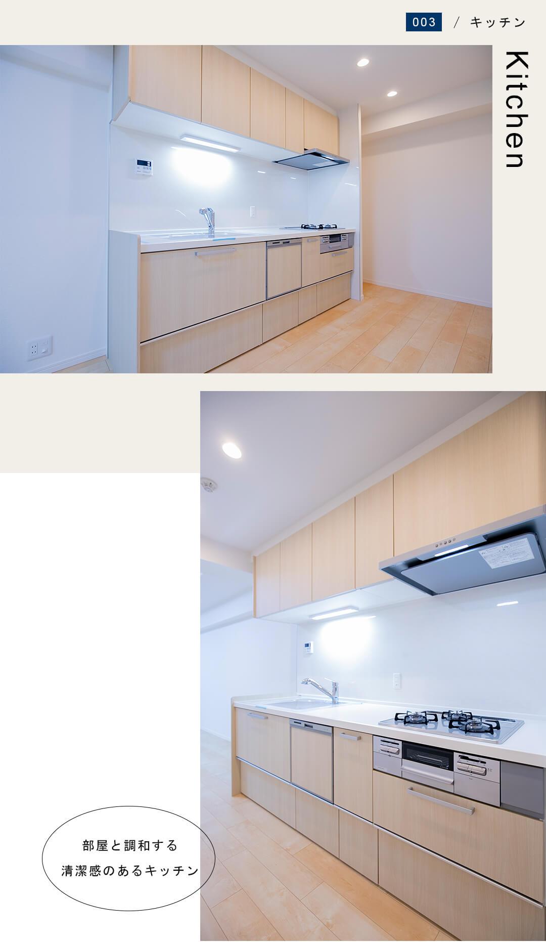 リブネスモア戸田公園206のキッチン