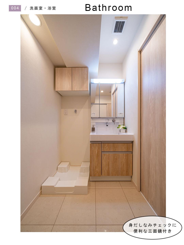 パラスト蒲田 1303の洗面室
