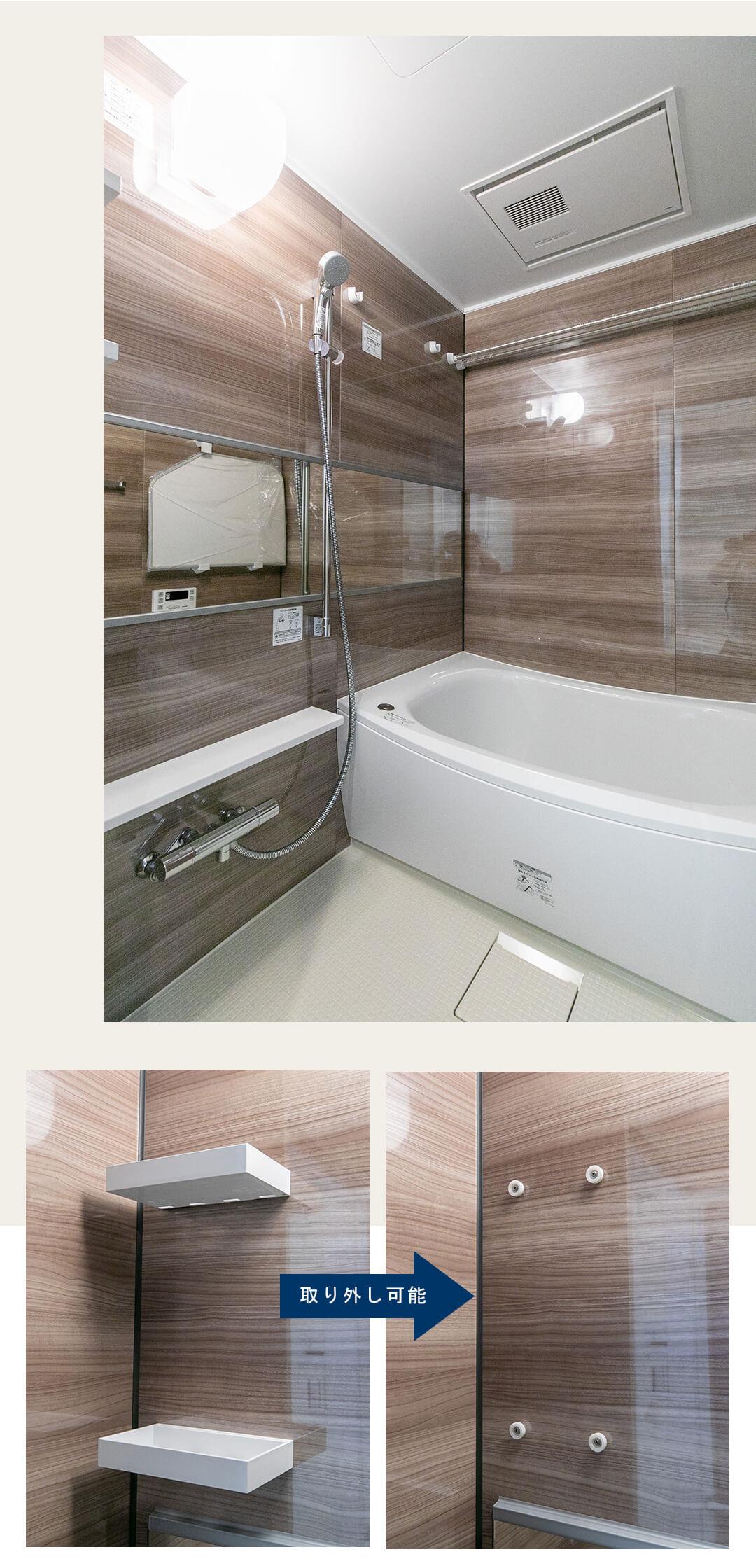 デ・リード日本橋箱崎の浴室